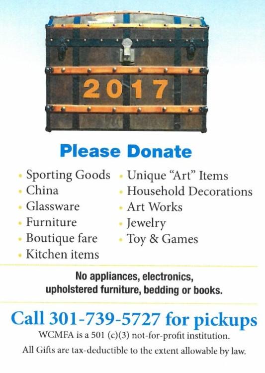 Treasure Sale donate