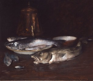Chase, William Merritt - Fish, Plate and Copper crpd