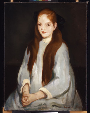 """Portrait of a Young Girl"", George Luks"
