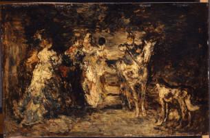 """Garden Scene"", Adolphe-Joseph-Thomas Monticelli, 1886"