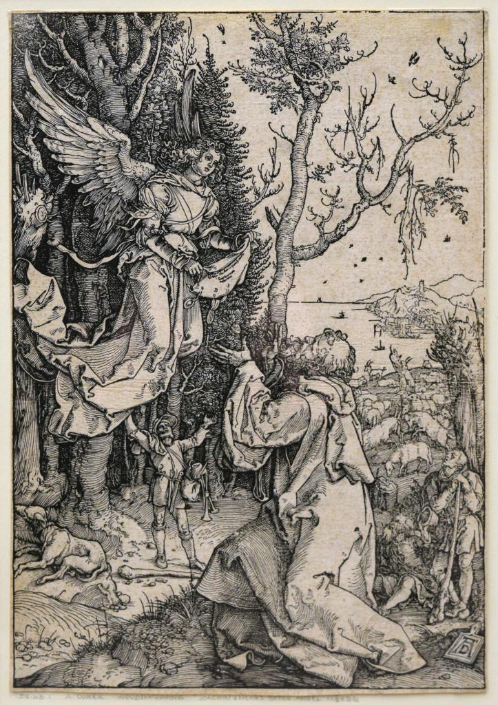 Albrecht Dürer (1471–1528). Joachim and the Angel from the Life of the Virgin, 1504. Woodblock print. Reading Public Museum, Reading, PA.