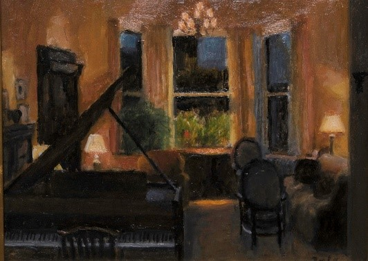 "Apartment Interior, oil on panel, Jack Boul, 2004, 12 ½""x16"""