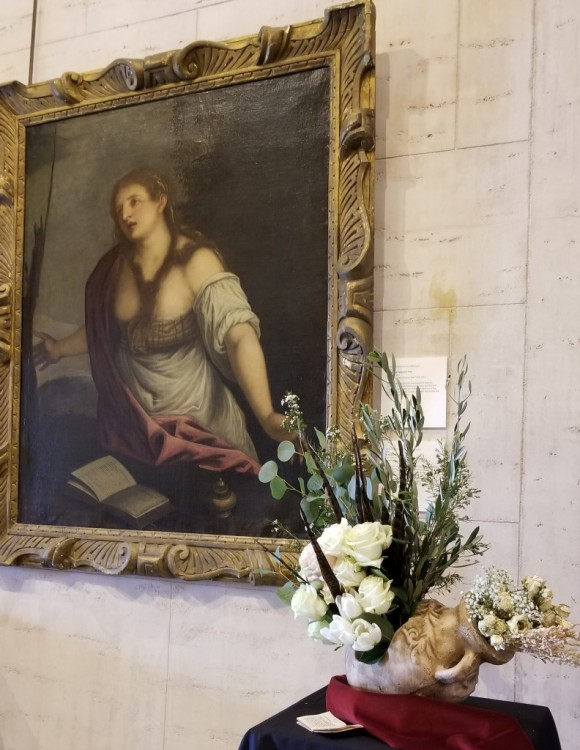 Fountain Head Garden Club: Victoria Beyer, Linda Carpenter, and Karin Novinger  Artwork: Domenico Campagnola