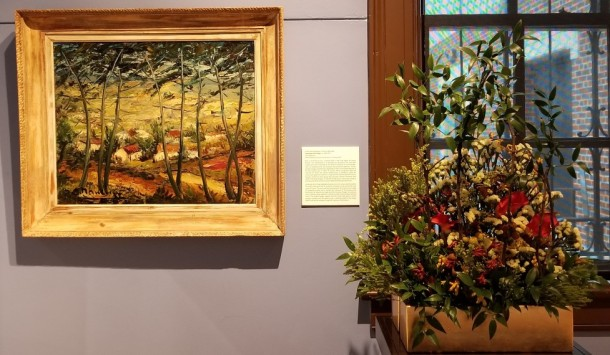 Howard County Garden Club: Darlene Brotzman and Dessie Moxley Artwork: Landscape with Village by Andre'-Charles Nauleau