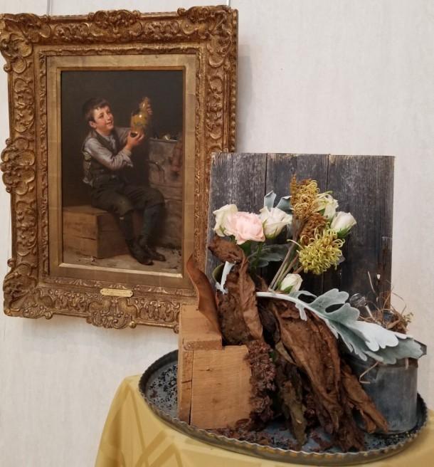 Fountain Head Garden Club: Victoria Beyer, Linda Carpenter, and Karin Novinger Artwork: The Dilettante by John George Brown