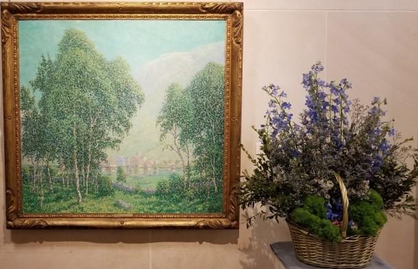 Hagerstown Garden Club: Martha Sullivan and Sue Hammelwright Artwork: The Village of Olden by William Henry Singer, Jr.