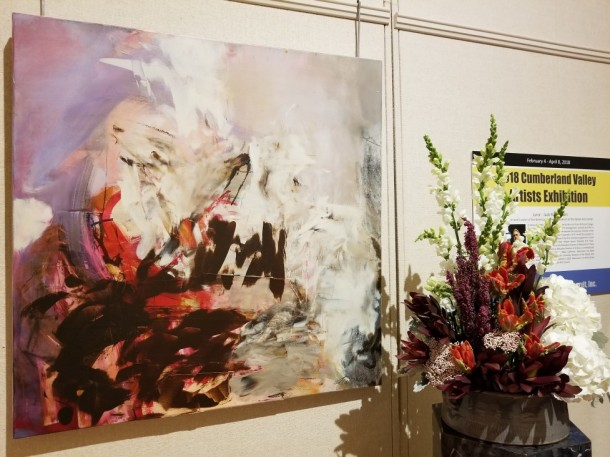 Town and Country Garden Club: Kathleen Murray, Loretta Baker, and Kathy Persinger Artwork: Winter Morning by Fran Skiles