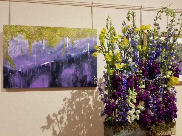 New Market Garden Club: Yasuko Walcott, Pilar Eans, and Ligia Ryan Artwork: Mossy Morn by Kay Layne