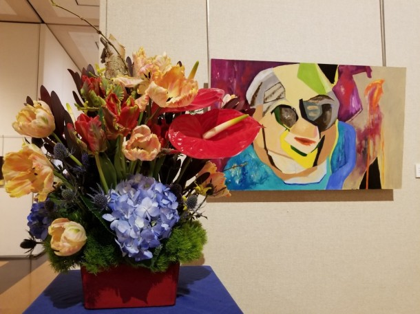 Hagerstown Garden Club: Laura Zimmerman and Oliver Tessier Artwork: Woman by Patricia Perry