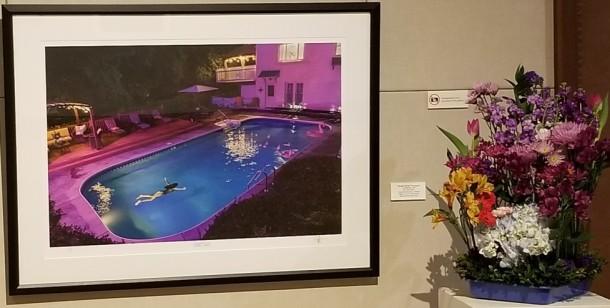 Silver Fancy Garden Club: Bonnie Fuss, Sandy Watkins, Carolynn Maddox, and Lynn Walter Artwork: Night Swim by Michael Hunter Thompson