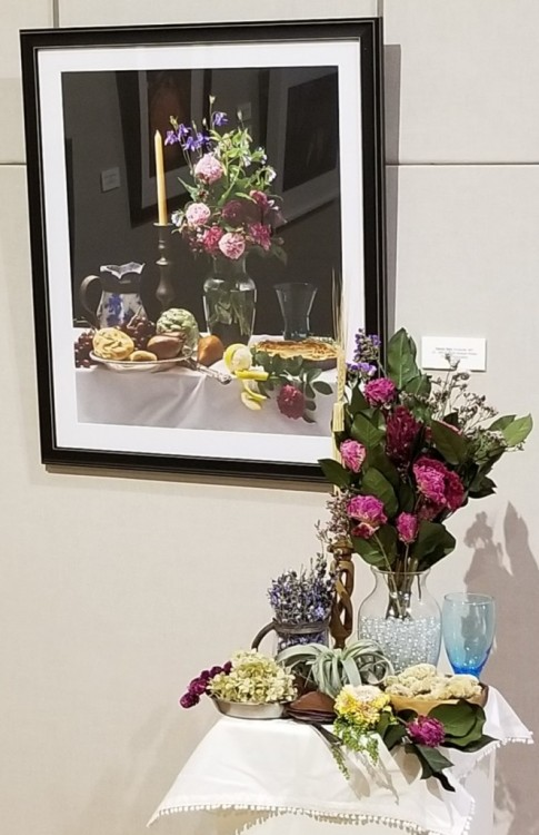 Kelly White Flowers, Brunswick, MD: Kelly White Artwork: Still Life with Antique Roses by Daniel Weil