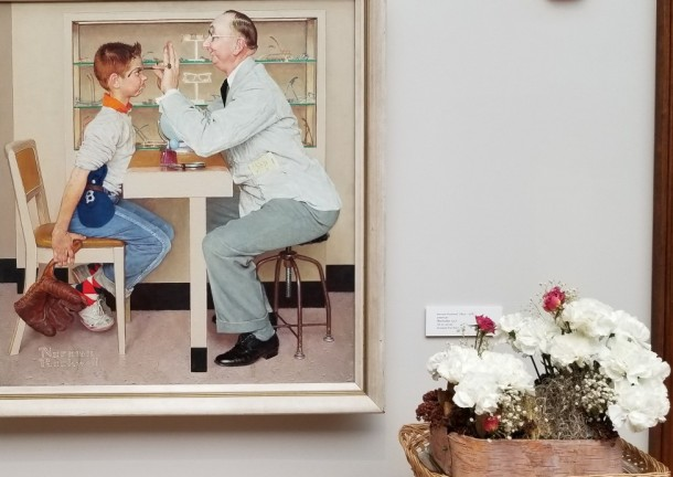 Biglerville Garden Club: Terry Cabana Artwork: The Occulist by Norman Rockwell