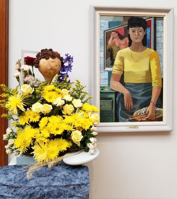 Crossroads Garden Club: Georgia Reeser, Connie Lenhart, and Sharon Poland Artwork: Portrait of Shanah by Philip Guston