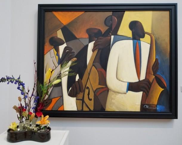 Wright Hand Pottery: Jennie Avila and Steve Wright Artwork: Jazz at Takoma Station by Joseph D. Holston
