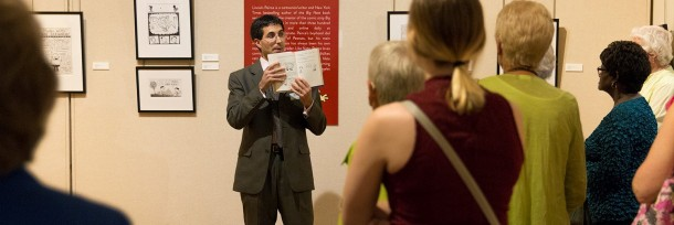 Daniel Fulco, Agnita M. Stine Schreiber Curator, presents a lively discussion to museum members.