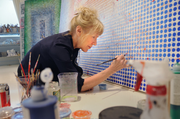 Carol Brown Goldberg in her studio.