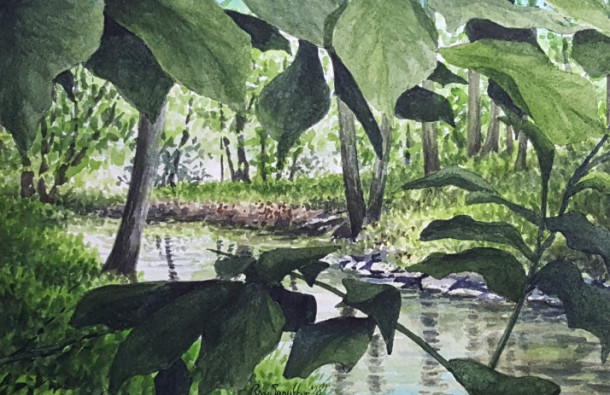 Watercolor painting by Ray Snouffer