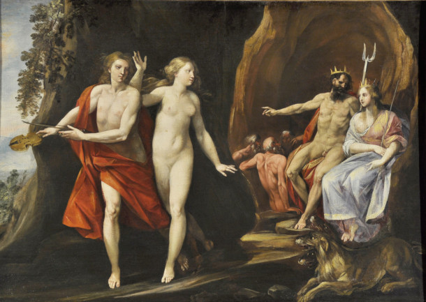 Giuseppe Cesari, called Cavalier d'Arpino, Orpheus and Eurydice, 1620-25, Oil on canvas, Courtesy of Collection Lemme, Palazzo Chigi, Ariccia. Sponsored by Dr. and Mrs. Robert S. Strauch.