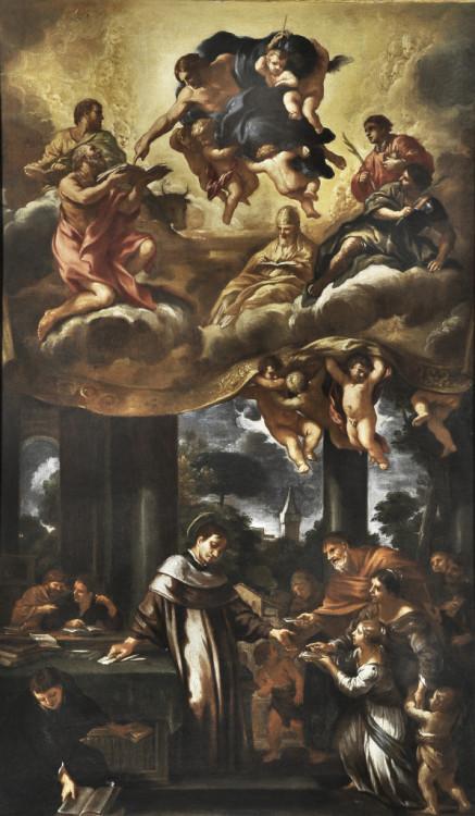Ciro Ferri, Saint Ivo Distributes Charity, 1660-70, Oil on canvas, 56 1/8 x 37 3/8 in., Courtesy of Collection Fagiolo, Palazzo Chigi, Ariccia.