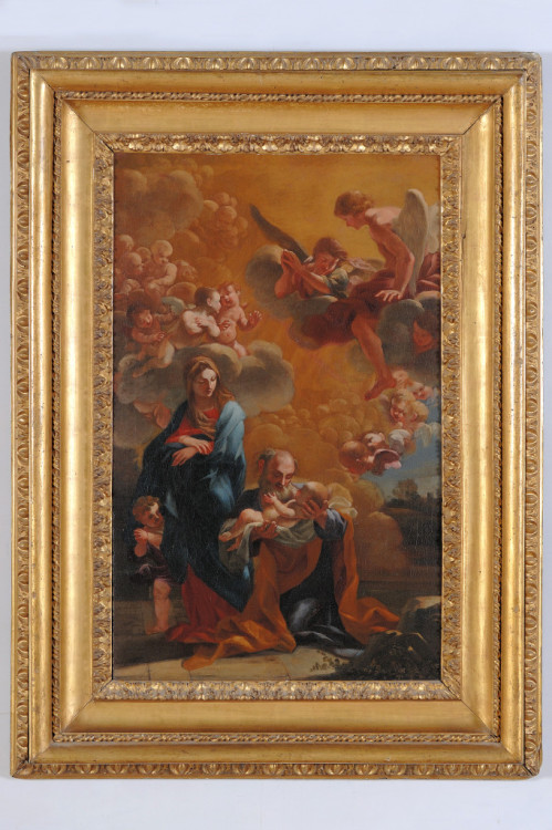 Ludovico Gimignani, The Baptism of Constantine, post 1688, Oil on canvas, 35 x 59 5/8 in., Courtesy of Collection Lemme, Palazzo Chigi, Ariccia.