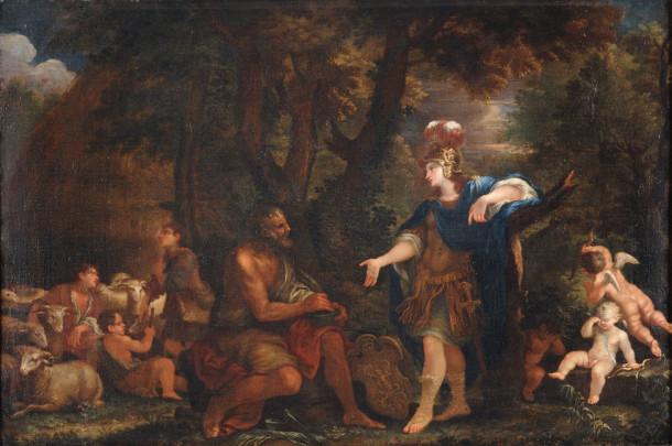 Filippo Lauri, Erminia among the Shepherds, 1681, Oil on Canvas, 24 5/8 x 34 in., Palazzo Chigi, Ariccia