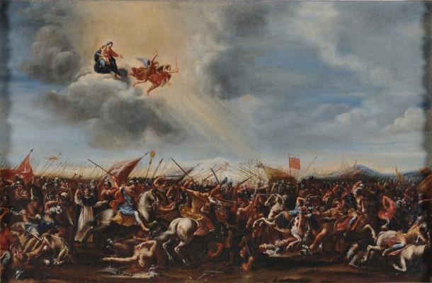 Francesco Allegrini, The Battle of Muret, c. 1660, Oil on Canvas, 30 7/8 x 43 3/4 in., Palazzo Chigi, Ariccia
