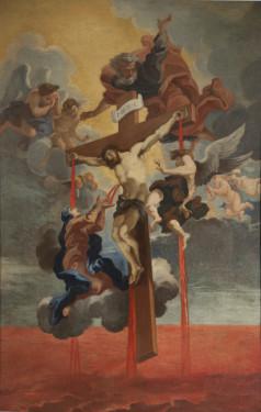 "6. Gian Lorenzo Bernini and Guillaume Courtois, called ""Il Borgognone , Sanguis Christi, 1670, Oil on canvas, Courtesy of Collection Fagiolo, Palazzo Chigi, Ariccia."