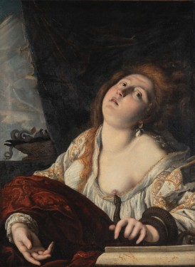 15. Domenico Fetti, The Suicide of Cleopatra, c. 1613, Oil on canvas, Courtesy of Collection Lemme, Palazzo Chigi, Ariccia.